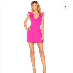 NWOT Amanda Uprichard Gimlet Hot Pink Dress Sz. S